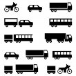 Set of vector icons - transportation symbols — Stock Vector