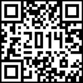 2014 New Year counter, QR code vector. — Vettoriale Stock