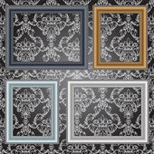 Frames on the wall. Vector illustration. — Vector de stock