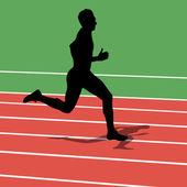 Running silhouettes. Vector illustration. — Stock Vector