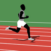 Running silhouettes. Vector illustration. — 图库矢量图片