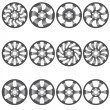 Stock Vector: Car alloy wheels, vector illustration