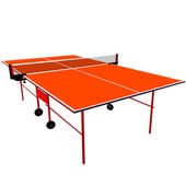 Ping pong orange table tennis. Vector illustration. — Stock Vector