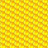 Cellule d'oro di un modello a nido d'ape. illustrazione vettoriale. — Vettoriale Stock