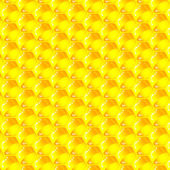 Cellules d'or d'un modèle de nid d'abeilles. illustration vectorielle. — Vecteur