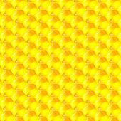 Golden cells of a honeycomb pattern. Vector illustration. — Stock Vector