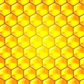 Gyllene cellerna i ett bikakemönster. vektor illustration. — Stockvektor