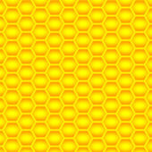 Golden cells of a honeycomb pattern. Vector illustration. — Stock Vector