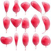 Fundo com balões coloridos brilhantes. ilustração vetorial. — Vetorial Stock