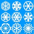 Set of snowflakes, vector illustration. — Imagen vectorial