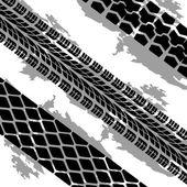 Abstract background tire prints, vector illustration — ストックベクタ
