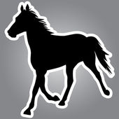 Vector silhouette of horse — Stockvektor