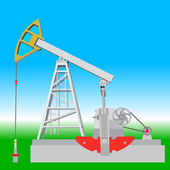 Oil pump jack. Oil industry equipment. Vector illustration. — Stock Vector