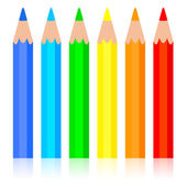Set of colored pencil, vector illustration. — Vector de stock