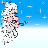 Santa Claus blowing wind — Stockvector