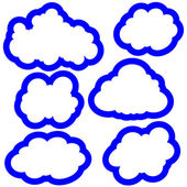 Set of clouds in the sky. Vector illustration — Vecteur