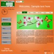 Vector template web site about  nature. — Imagen vectorial