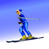 Sciatore — Vettoriale Stock