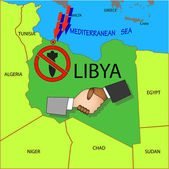 Stop military operations in Libya. — Stock Vector