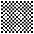Stock Vector: Illusion of volume in black and white squares
