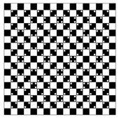 Illusie van volume in zwarte en witte vierkanten — Stockvector