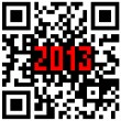 2013 New Year counter, QR code vector. — Stock Vector