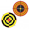 Set targets for practical pistol shooting — Stock Vector