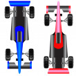 Постер, плакат: Sport car scheme top view