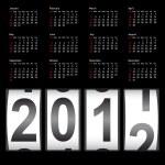 Stylish calendar for 2012. Sundays first — Stock Vector #34508161