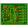 Stock Vector: Vector abstract circuit board