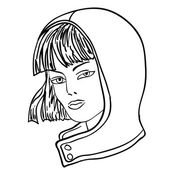Hand-drawn fashion model. Vector illustration. Woman's face — Stock Vector
