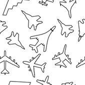 Naadloze achtergrond militaire vliegtuigen vector illustration — Stockvector