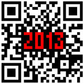 2013 New Year counter, QR code vector. — Stockvector