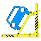 Device for lifting a car repair. Vector illustration. — Wektor stockowy