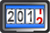 2012 yeni yıl counter, vektör. — Stok Vektör