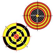 Set targets for practical pistol shooting — Stock Vector
