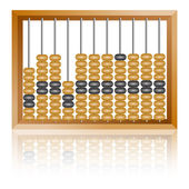 Old wooden abacus close up — Stock Vector