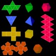 Colorfull 3d vector geometric shapes — Stockvectorbeeld