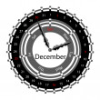 Creative idea of design of a Clock with circular calendar for 20 — Stockvectorbeeld