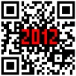 2012 New Year counter, QR code vector. — Stock Vector