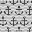 Seamless wallpaper with sea anchors — Stock Vector