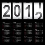 Stylish calendar for 2012. Sundays first — Stock Vector