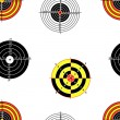 Stock Vector: Seamless background of Targets