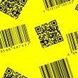 Barcode and qr-code. Seamless vector wallpaper. — Stock Vector