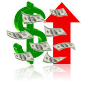 Symbol of success finance — Stock Vector