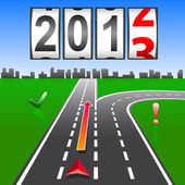 2013 New Year counter, vector. — Vettoriale Stock