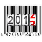 2013 New Year counter, barcode, vector. — Stock Vector