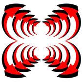 Jeu de flèches rouges vectorielles — Vecteur