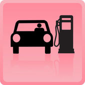 Icon of the car refueling with gasoline — Stock Vector