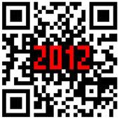 2012 New Year counter, QR code vector. — Stock Vector